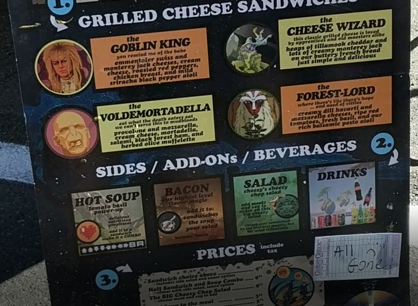 Cheese Wizards Grilled Cheese