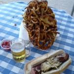 Fries and bratwurst