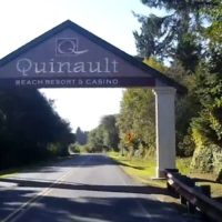 Entrance arch at the Quinault Casino in Ocean Shores