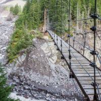 Tahoma Creek suspension bridge
