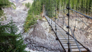 Tahoma Creek suspension bridge