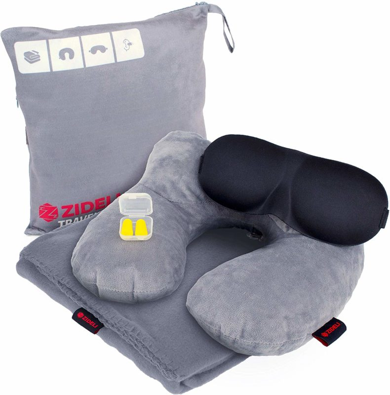 Travel pillow and blanket sets a great gift for travelers