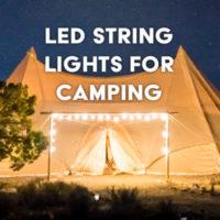 LED string lights for camping