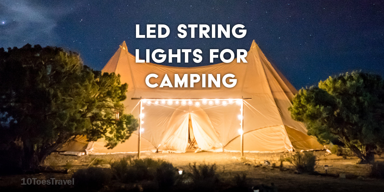 LED string lights for camping