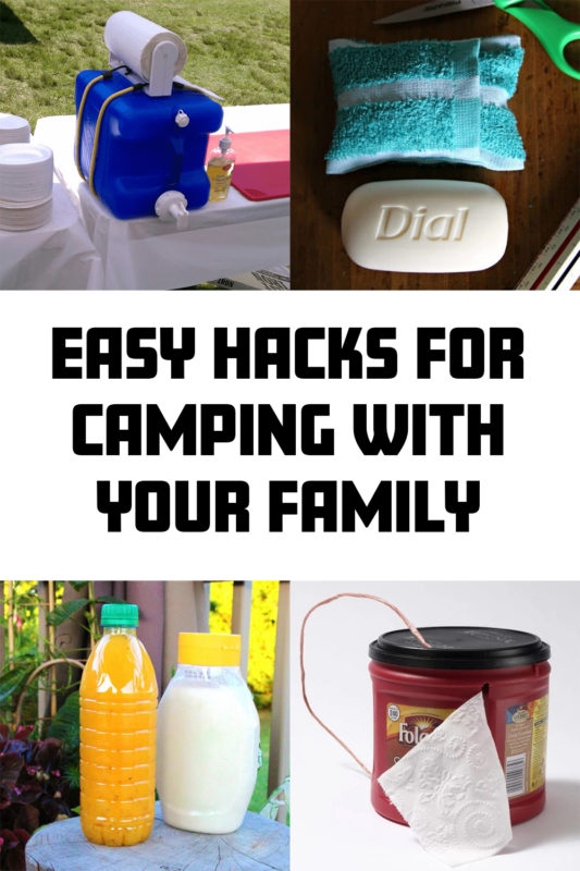 hacks for camping with the family