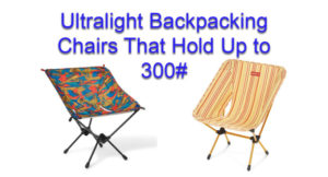 backpacking chairs for big people