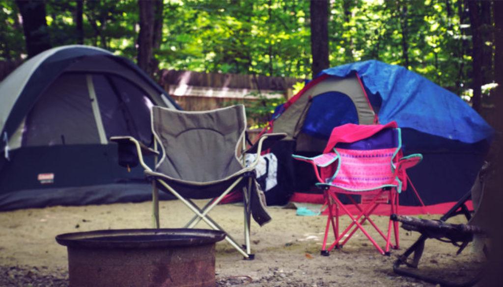 Camping in the rain