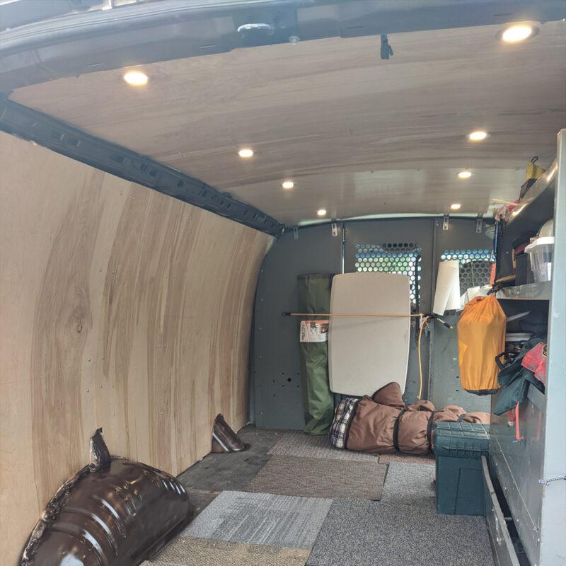 Recessed LED lighting in my van