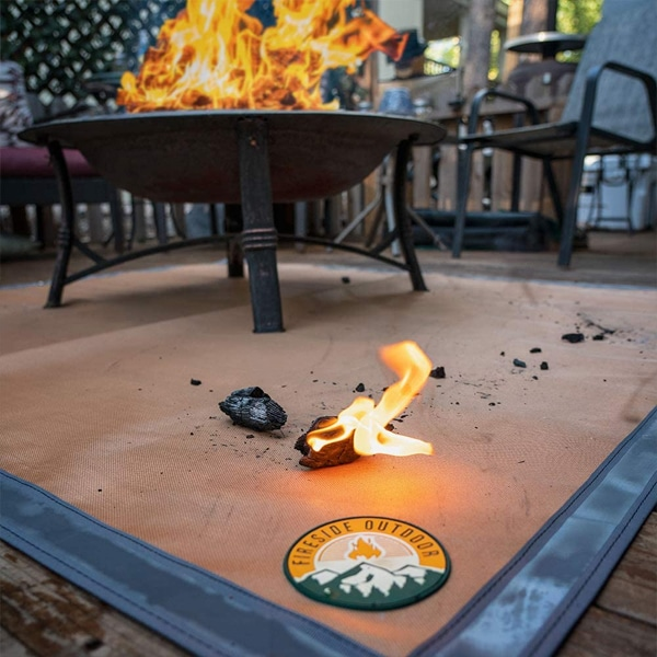 fire mat for under your fire pit or fire pan