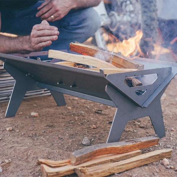 Fold-a-Flame flat pack fire pit