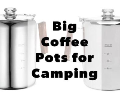 big stainless steel coffee pots for camping