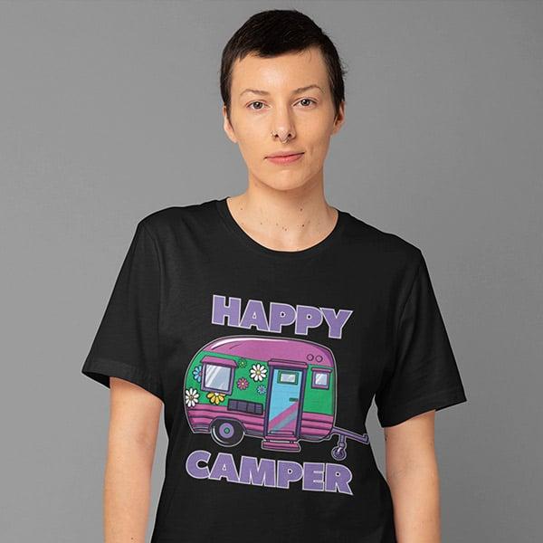 Happy Camper RV Camping T-shirt